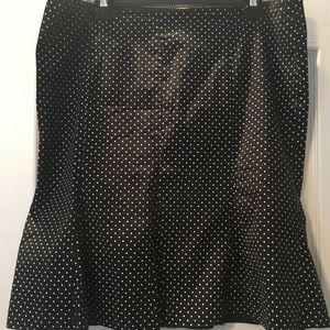 Dresses & Skirts - Black skirt with tiny white polkadots